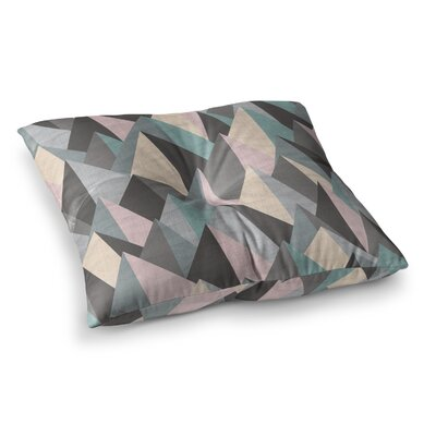 Michelle Drew Mountain Peaks Square Floor Pillow Size: 23 x 23, Color: Pastel