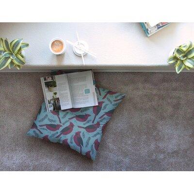Michelle Drew Winter Birds Square Floor Pillow Size: 23 x 23