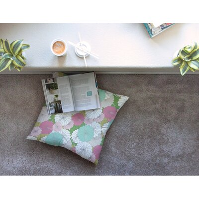 Michelle Drew Parasol Flowers Abstract Square Floor Pillow Size: 26 x 26