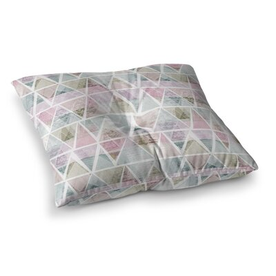 Michelle Drew Triangle Mountains Square Floor Pillow Size: 23 x 23