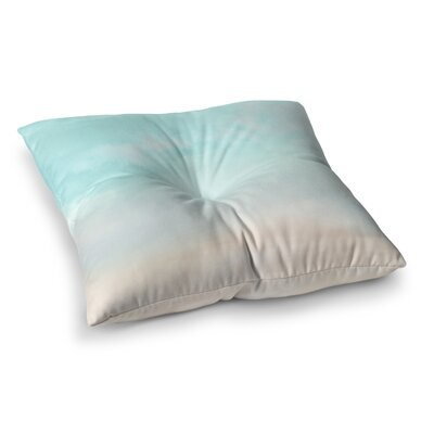 Michelle Drew VIntage Clouds Square Floor Pillow Size: 26 x 26, Color: Blue