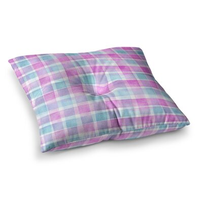 Michelle Drew Checked Tartan Sin Plaid Square Floor Pillow Size: 26