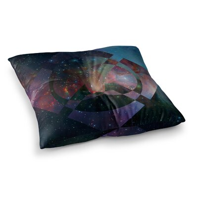 Matt Eklund Galactic Radiance Crimson Square Floor Pillow Size: 23 x 23, Color: Blue/Purple