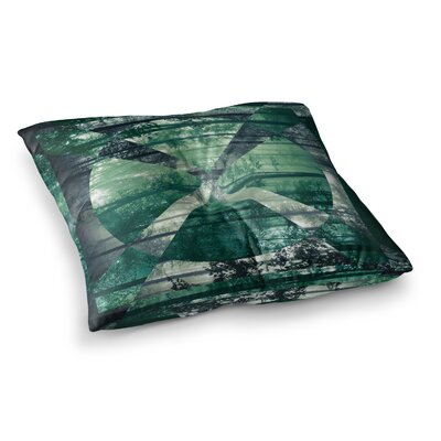 Matt Eklund Foliage Geometric Square Floor Pillow Size: 26 x 26