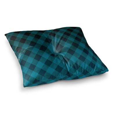 Matt Eklund Deep Current Pattern Square Floor Pillow Size: 23 x 23, Color: Blue