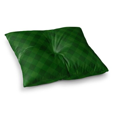 Matt Eklund Deep Current Pattern Square Floor Pillow Size: 23 x 23, Color: Green