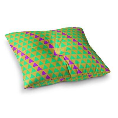 Matt Eklund Overload Digital Square Floor Pillow Size: 26 x 26, Color: Purple/Green