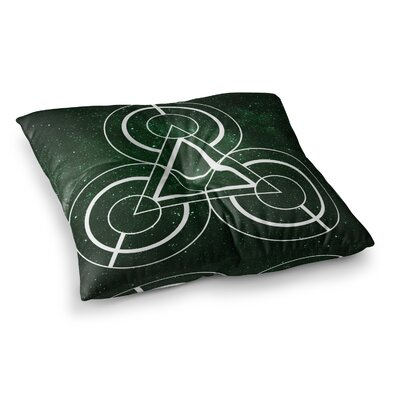 Matt Eklund Emerald City Geometric Digital Square Floor Pillow Size: 23 x 23