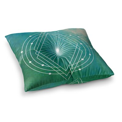 Matt Eklund Atlantis Geometric Square Floor Pillow Size: 23 x 23