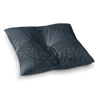 Matt Eklund Lunar Sundial Geometric Square Floor Pillow Color: Black, Size: 23 x 23