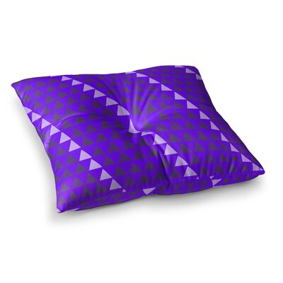 Matt Eklund Overload Digital Square Floor Pillow Size: 26 x 26, Color: Teal/Purple