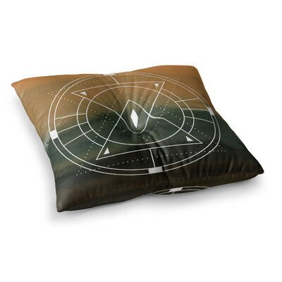 Matt Eklund Lost City Geometric Square Floor Pillow Size: 23 x 23, Color: Tan/Gray