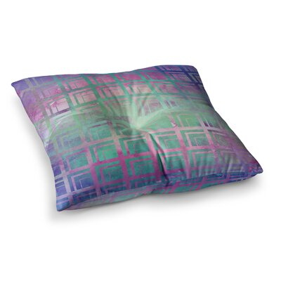 Matt Eklund Tiled Dreamscape Square Floor Pillow Size: 23 x 23, Color: Pink/Purple