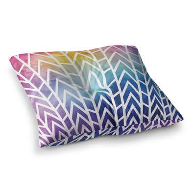 Matt Eklund Shattering Sunsets Square Floor Pillow Size: 26 x 26, Color: Blue/Purple