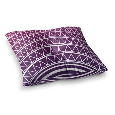 Matt Eklund Azure Portal Square Floor Pillow Size: 26 x 26, Color: Purple/White