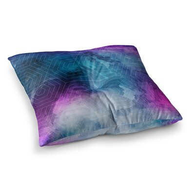 Matt Eklund Skyward Square Floor Pillow Size: 23 x 23, Color: Blue/Purple