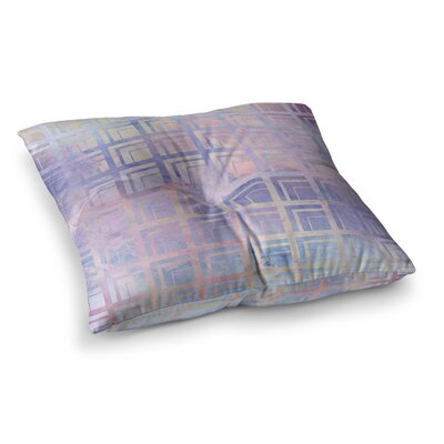 Matt Eklund Tiled Dreamscape Square Floor Pillow Size: 26 x 26, Color: Green/Purple