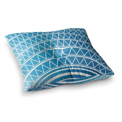 Matt Eklund Azure Portal Square Floor Pillow Size: 23 x 23, Color: Blue/White