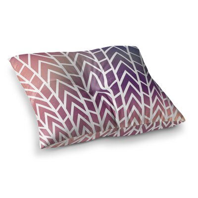 Matt Eklund Shattering Sunsets Square Floor Pillow Size: 26 x 26, Color: Purple
