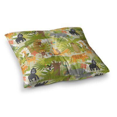 Petit Griffin Roar of the Jungle Animals Square Floor Pillow Size: 26 x 26