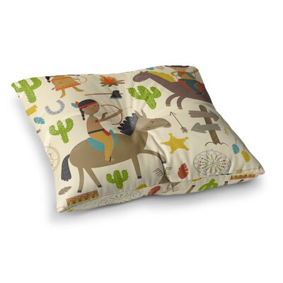 Petit Griffin Tipi Kids Square Floor Pillow Size: 23 x 23