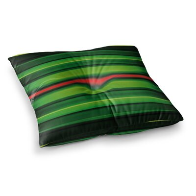 Matthias Hennig Stripes Square Floor Pillow Size: 26