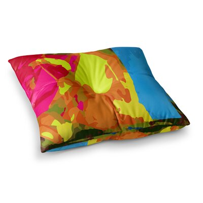 Matthias Hennig Colored Plastic Square Floor Pillow Size: 23 x 23
