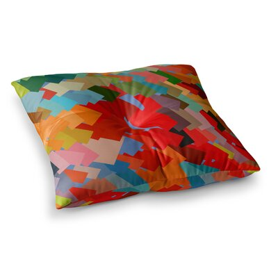 Matthias Hennig Playful Rectangles Square Floor Pillow Size: 23 x 23