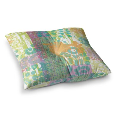 Chickaprint Dazed Splatter Square Floor Pillow Size: 26 x 26