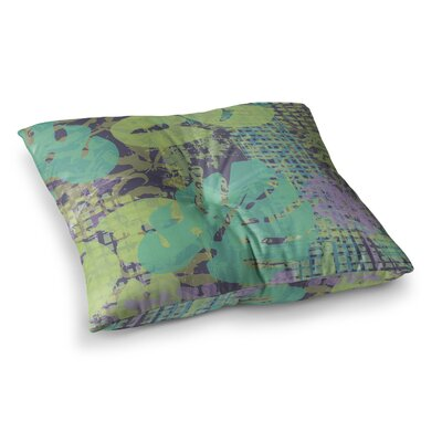 Chickaprint Verdure Collage Square Floor Pillow Size: 26 x 26