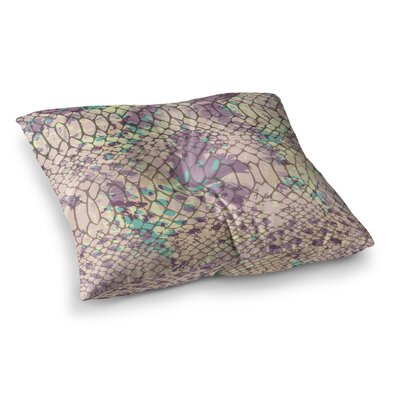 Chickaprint Snakeskin Square Floor Pillow Size: 26 x 26