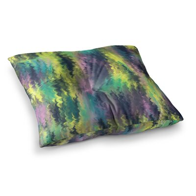 Hitidesign Marbling Digital Square Floor Pillow Size: 26 x 26