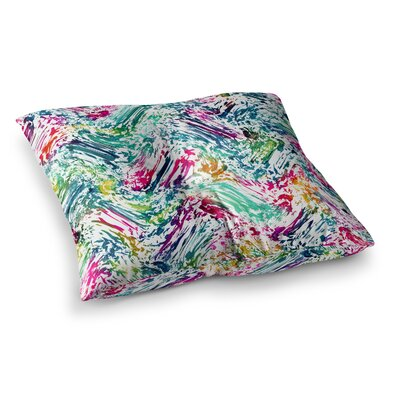 Hitidesign Strings Digital Square Floor Pillow Size: 26 x 26