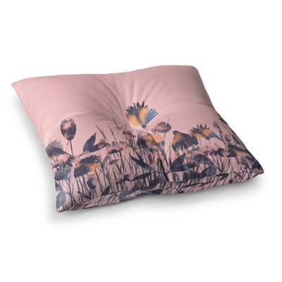 Hitidesign Crazy Flowers Illustration Square Floor Pillow Size: 26 x 26
