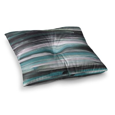 Hitidesign Mixed Brush Strokes Painting Square Floor Pillow Size: 26 x 26