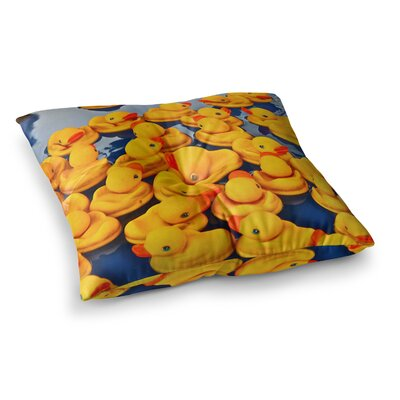 Maynard Logan Duckies Square Floor Pillow Size: 26 x 26