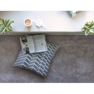 Maynard Logan The Grid Square Floor Pillow Size: 26 x 26
