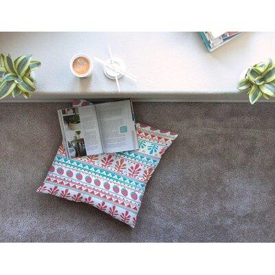 Nika Martinez Spring Strawberries Square Floor Pillow Size: 23 x 23