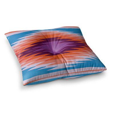 Nika Martinez Surf Lovin Hawaii Square Floor Pillow Size: 26 x 26, Color: Blue/Orange/Pink