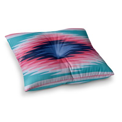 Nika Martinez Surf Lovin Hawaii Square Floor Pillow Size: 26 x 26, Color: Blue/Red/Navy