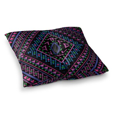 Nika Martinez Neon Pattern Square Floor Pillow Size: 26 x 26