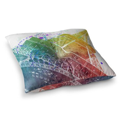 Nika Martinez Paris Je Taime Square Floor Pillow Size: 26 x 26