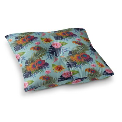 Nika Martinez Tropical Floral Square Floor Pillow Size: 26 x 26