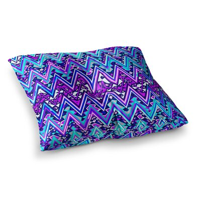 Nika Martinez Electric Chevron Square Floor Pillow Size: 23 x 23, Color: Blue