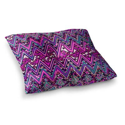 Nika Martinez Electric Chevron Square Floor Pillow Size: 23 x 23, Color: Pink