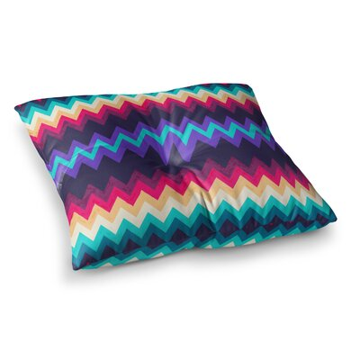 Nika Martinez Surf Chevron Square Floor Pillow Size: 23 x 23