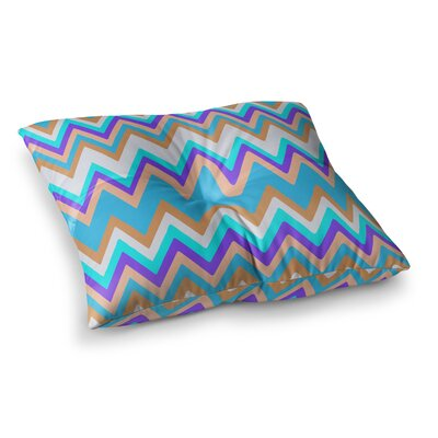 Nika Martinez Girly Surf Chevron Square Floor Pillow Size: 23 x 23