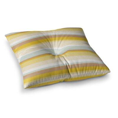 Nika Martinez Desert Stripes Square Floor Pillow Size: 23 x 23