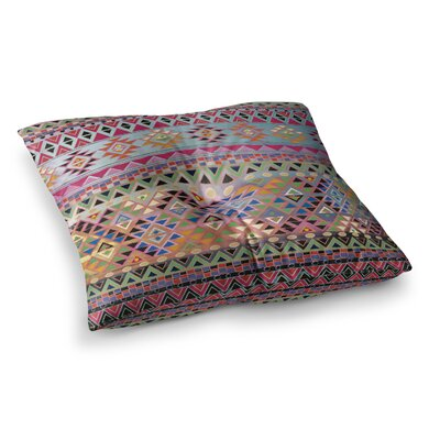 Nika Martinez Tribal Native Square Floor Pillow Size: 23 x 23, Color: Red