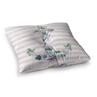 Nika Martinez Floral Anchor Square Floor Pillow Size: 23 x 23